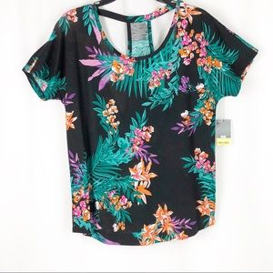 Tropical Tee by Xersion with Cut Out Back